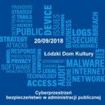 """Konferencja """"Cyberprzestrzeń – bezpieczeństwo w administracji publicznej"""" plakat"""